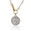 3.47ctw Mixed Antique Cut Diamond Mosaic Disc Pendant 0