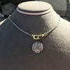 3.47ctw Mixed Antique Cut Diamond Mosaic Disc Pendant 8