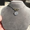 3.47ctw Mixed Antique Cut Diamond Mosaic Disc Pendant 23