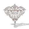 3.98ctw Edwardian Old European Cut Diamond and Platinum Pendant 0