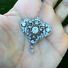 3.98ctw Edwardian Old European Cut Diamond and Platinum Pendant 19