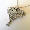 3.98ctw Edwardian Old European Cut Diamond and Platinum Pendant 7