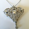 3.98ctw Edwardian Old European Cut Diamond and Platinum Pendant 3