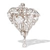 3.98ctw Edwardian Old European Cut Diamond and Platinum Pendant 1