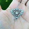 3.98ctw Edwardian Old European Cut Diamond and Platinum Pendant 14