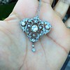 3.98ctw Edwardian Old European Cut Diamond and Platinum Pendant 11