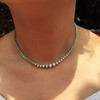 6.00ctw Round Brilliant Diamond Riviera Style Necklace 6