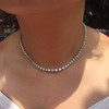 6.00ctw Round Brilliant Diamond Riviera Style Necklace 4