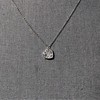 .64ctw Heart Askew Diamond Mosaic Pendant, White Gold Askew Pendant 9