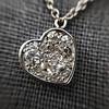 .64ctw Heart Askew Diamond Mosaic Pendant, White Gold Askew Pendant 5