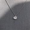 .64ctw Heart Askew Diamond Mosaic Pendant, White Gold Askew Pendant 2