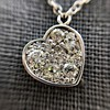.64ctw Heart Askew Diamond Mosaic Pendant, White Gold Askew Pendant 4