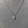 .64ctw Heart Askew Diamond Mosaic Pendant, White Gold Askew Pendant 10