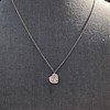 .64ctw Heart Askew Diamond Mosaic Pendant, White Gold Askew Pendant 11