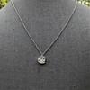 .64ctw Heart Askew Diamond Mosaic Pendant, White Gold Askew Pendant 3