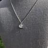 .64ctw Heart Askew Diamond Mosaic Pendant, White Gold Askew Pendant 0