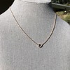 .65ct Pear Rose Cut Pendant, 18kt Yellow Gold 16