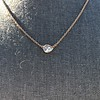 .65ct Pear Rose Cut Pendant, 18kt Yellow Gold 0