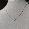 .65ct Pear Rose Cut Pendant, 18kt Yellow Gold 17