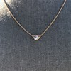 .65ct Pear Rose Cut Pendant, 18kt Yellow Gold 6