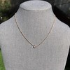 .65ct Pear Rose Cut Pendant, 18kt Yellow Gold 13