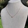 .65ct Pear Rose Cut Pendant, 18kt Yellow Gold 14