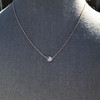 .65ct Pear Rose Cut Pendant, 18kt Yellow Gold 22