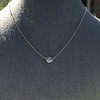 .65ct Pear Rose Cut Pendant, 18kt Yellow Gold 21