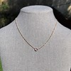 .65ct Pear Rose Cut Pendant, 18kt Yellow Gold 12
