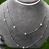 6.99ctw Old European Cut Platinum Diamonds-by-the-Yard Necklace 3