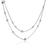 6.99ctw Old European Cut Platinum Diamonds-by-the-Yard Necklace 0
