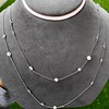 6.99ctw Old European Cut Platinum Diamonds-by-the-Yard Necklace 14