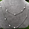6.99ctw Old European Cut Platinum Diamonds-by-the-Yard Necklace 13