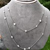 6.99ctw Old European Cut Platinum Diamonds-by-the-Yard Necklace 2