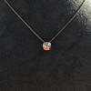 .77ct Old Mine Cut Rose Gold Bezel Pendant 2