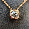 .77ct Old Mine Cut Rose Gold Bezel Pendant 11