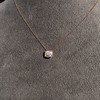 .77ct Old Mine Cut Rose Gold Bezel Pendant 8