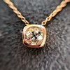.77ct Old Mine Cut Rose Gold Bezel Pendant 12