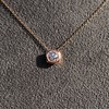 .77ct Old Mine Cut Rose Gold Bezel Pendant 0