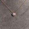 .77ct Old Mine Cut Rose Gold Bezel Pendant 4
