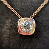 .77ct Old Mine Cut Rose Gold Bezel Pendant 3
