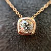 .77ct Old Mine Cut Rose Gold Bezel Pendant 5