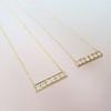 .77ctw 6-Stone Old European Cut Diamond Bar Pendant in Rose Gold 16