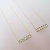 .77ctw 6-Stone Old European Cut Diamond Bar Pendant in Rose Gold 3