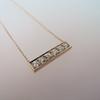 .77ctw 6-Stone Old European Cut Diamond Bar Pendant in Rose Gold 0