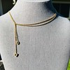 ".82ctw Oval and Trillion Rose Cut Diamond ""Lasso"" Necklace"
