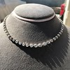 9.20ctw Victorian Riviere Diamond Necklace 11