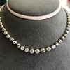 9.20ctw Victorian Riviere Diamond Necklace 23