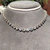 9.20ctw Victorian Riviere Diamond Necklace 27