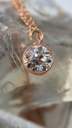 .92ct Old European Cut Diamond Bezel Pendant (GIA K VS2)